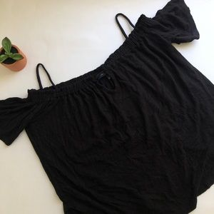 Black off shoulder top - small